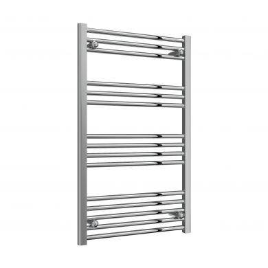 Reina Capo Flat Chrome Mild Steel Towel Radiator 1000x600mm