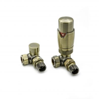 Modal TRV Thermostatic Corner Bronze Valves with Lockshield