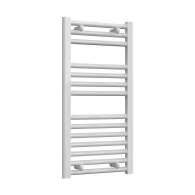 Reina Diva Flat White Mild Steel Towel Radiator 800x400mm