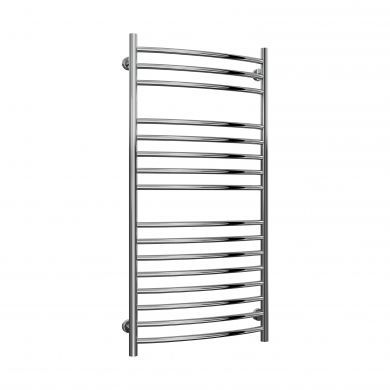 Reina Eos Curved Stainless Steel Designer Towel Radiator 1200x600mm