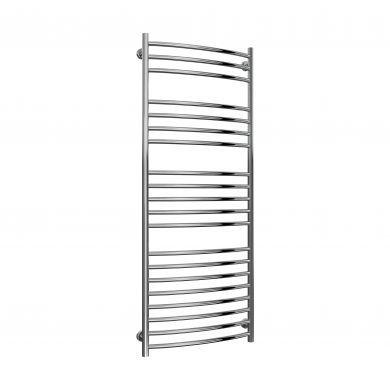 Reina Eos Curved Stainless Steel Designer Towel Radiator 1500x600mm