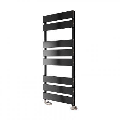 Reina Fermo Aluminium Designer Towel Rail 710x480mm - Satin Black