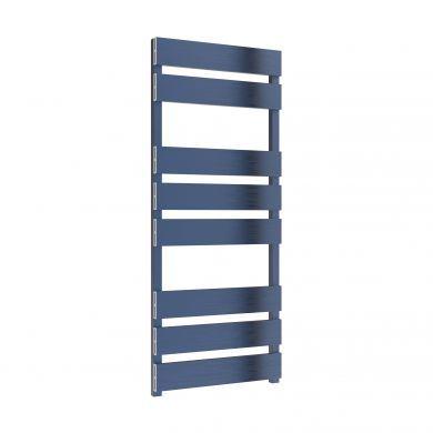 Reina Fermo Satin Blue Aluminium Designer Towel Rail 1190x480mm