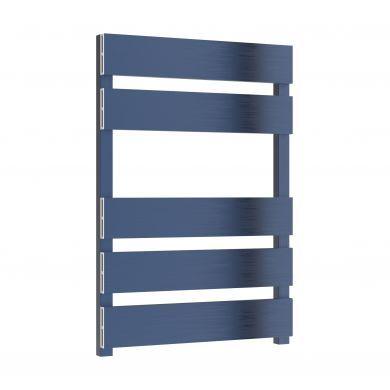 Reina Fermo Satin Blue Aluminium Designer Towel Rail 710x480mm