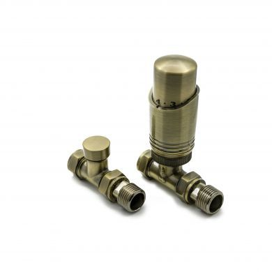 Modal TRV Thermostatic Straight Bronze Valves with Lockshield