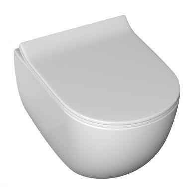 Tissino Serena White Wall Hung Pan