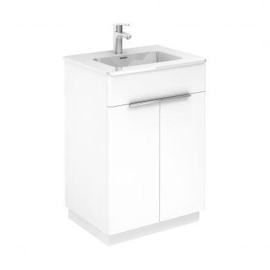 Frontline Royo Silk 595mm Double Drawer Floor Standing Vanity Unit and Basin