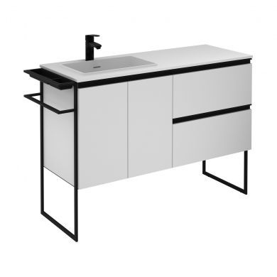 Frontline Royo Structure 1210mm Double Door, Double Drawer Unit and Solid Surface Basin