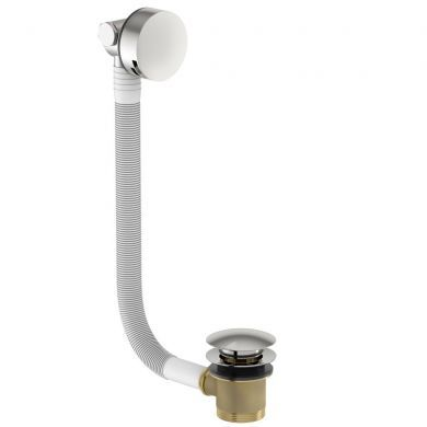 Tissino Alek Round Bath Filler With Clicker Waste and Overflow