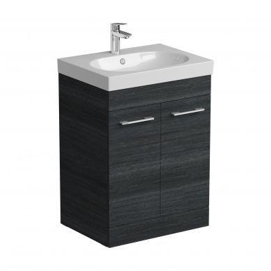Tissino Angelo 600mm Two Door Floor Standing Vanity Unit and Basin - Barossa Oak