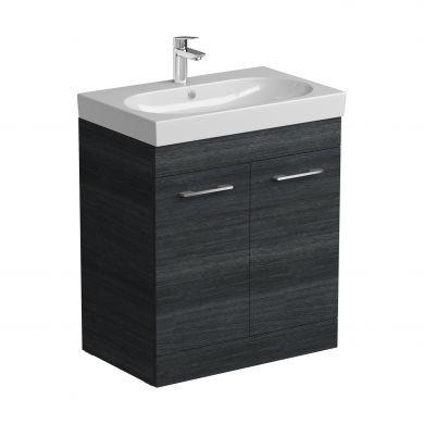 Tissino Angelo 700mm Two Door Floor Standing Vanity Unit and Basin - Barossa Oak