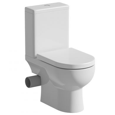 Tissino Angelo Close Coupled LH Pan, Cistern And Soft Close Seat