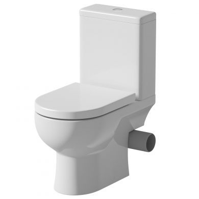 Tissino Angelo Close Coupled RH Pan, Cistern And Soft Close Seat