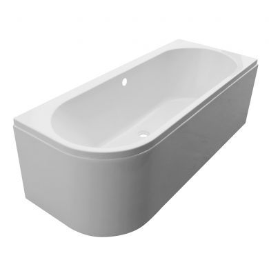 Tissino Angelo Premium Double Ended J Bath 1600x700mm Left Hand