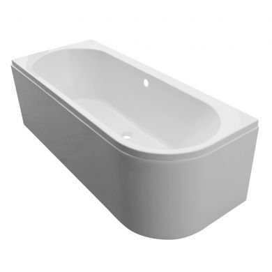 Tissino Angelo Premium Double Ended J Bath 1600x700mm Right Hand