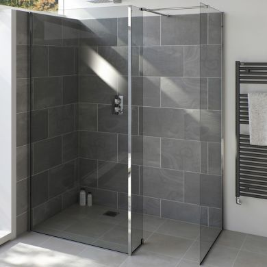 Tissino Armano 1400 Shower Glass Panel With Wall Profile
