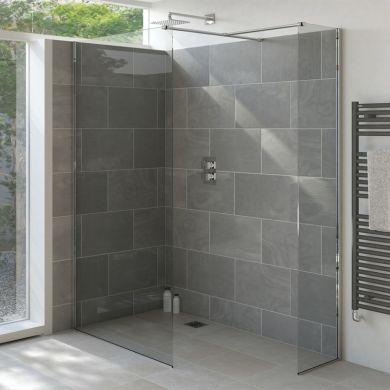 Tissino Armano 400 Shower Glass Panel Inc Wall Profile