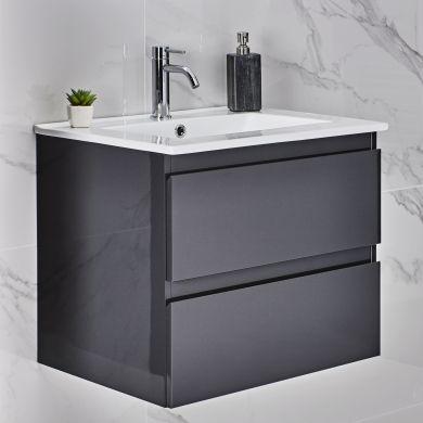 Tissino Catina 600mm Two Drawer Wall Hung Vanity Unit and Basin