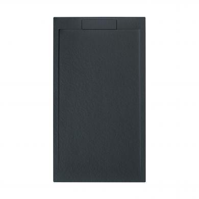 Tissino Giorgio Lux Rectangular Black Slate Shower Tray - 1000x800mm