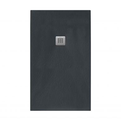 Tissino Giorgio2 Rectangular Black Slate Shower Tray - 900x700mm