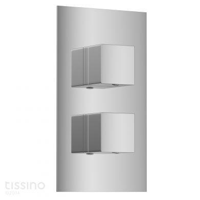 Tissino Mario Dual Square Handles Thermostatic Shower Valve With Diverter