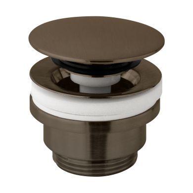 Tissino Parina Basin Push Waste - Brushed Black Chrome