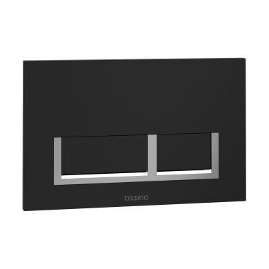 Tissino Rocco Universal Square Flush Plate - Black
