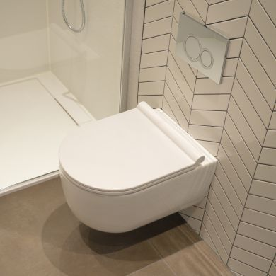 Tissino Velino Rimless Short Projection Wall Hung WC With Soft Close Seat