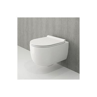 Tissino Velino Rimless Wall Hung Pan & Soft Close Seat