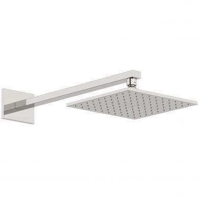 Tissino Mario Square Wall Mounted Straight Shower Arm and Shower Head