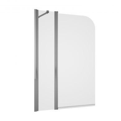 Tissino Messina Double Panel Curved Bath Screen