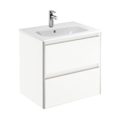 Frontline Royo Valencia 610mm Double Drawer Wall Hung Vanity Unit and Basin